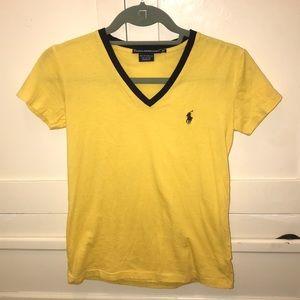 XS Ralph Lauren V-Neck T-shirt STEELERS 🖤💛